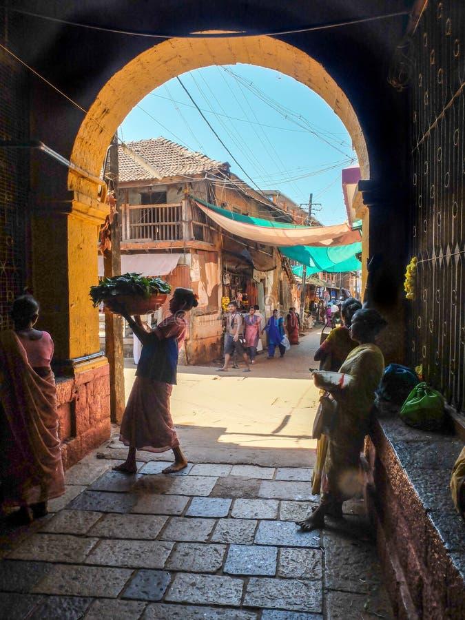 GOKARNA,卡纳塔克邦INDIA-FEBUARY第5,2018年 库存图片