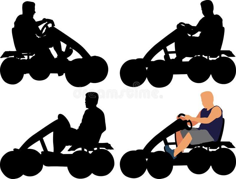Gokart stock illustratie