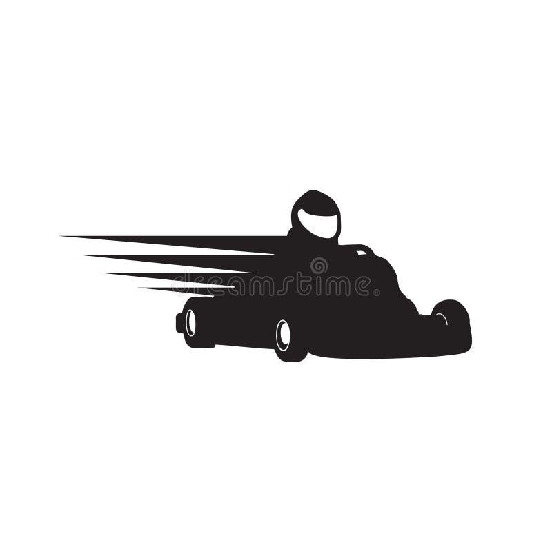 Gokart Racer Silhouette Symbol Design stock illustratie