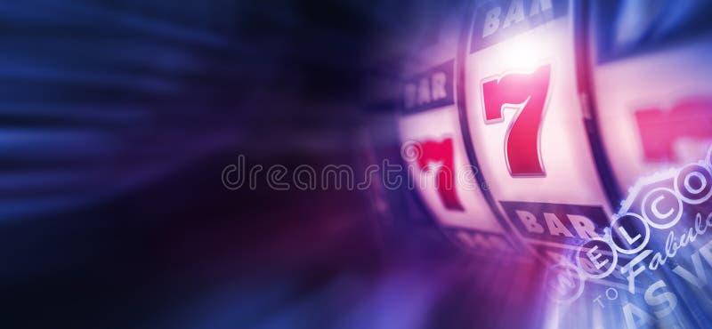 Gokautomatenspel in Vegas vector illustratie