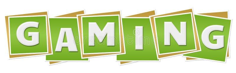 Gokken Groene Blokken stock illustratie