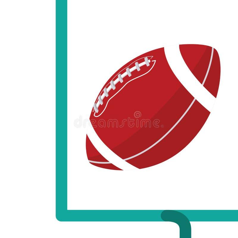 Gol de campo do futebol americano ilustração do vetor