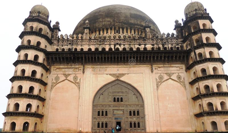 Gol Gumbaz, Bijapur, India. Gol Gumbaz - circular dome mausoleum of Mohammed Adil Shah, Sultan of Bijapur. structural triumph of Deccan architecture biggest royalty free stock photography