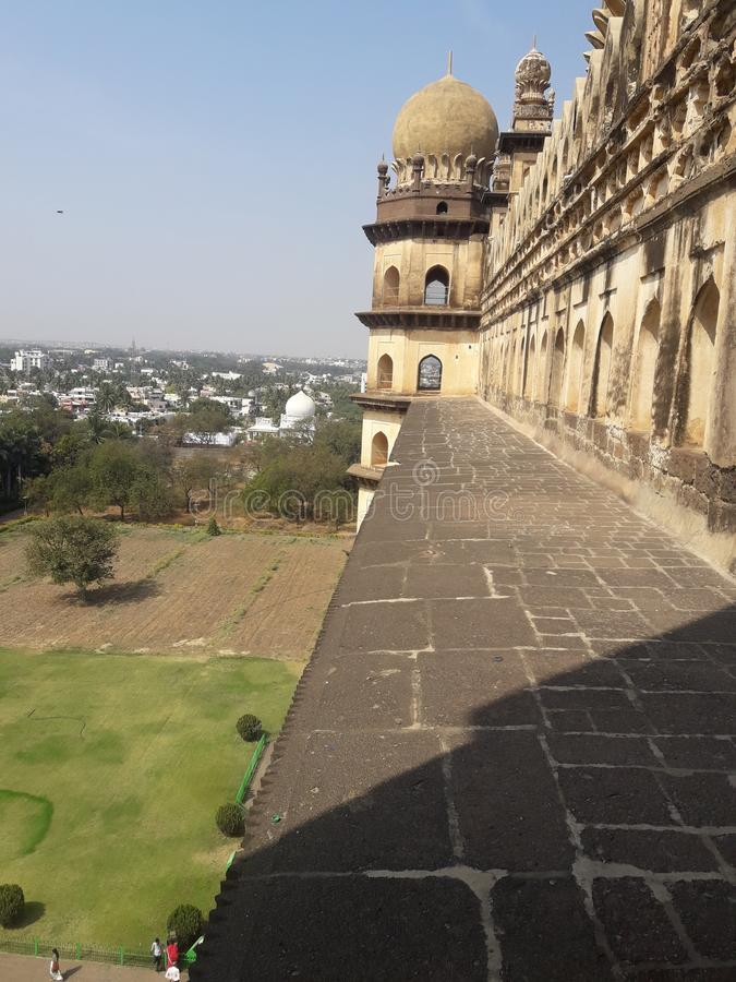 Gol Gumbaz, Bijapur, Karnataka stock afbeeldingen