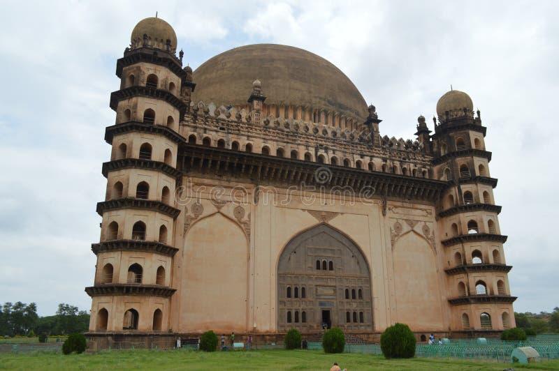 Gol Gumbaz-moskee, Bijapur, Karnataka stock foto