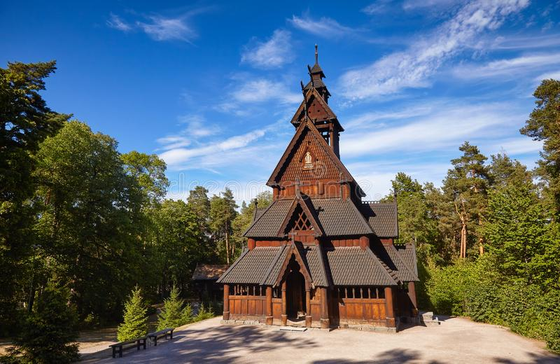 Gol Stave Church Folks-Museum Bygdoy-Halbinsel Oslo Norwegen Scand stockbilder