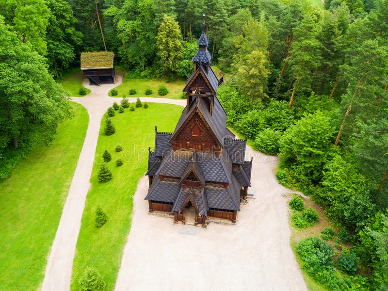 Gol Stave Church, Oslo immagini stock libere da diritti
