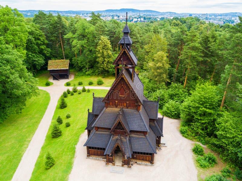 Gol Stave Church, Oslo royalty-vrije stock fotografie