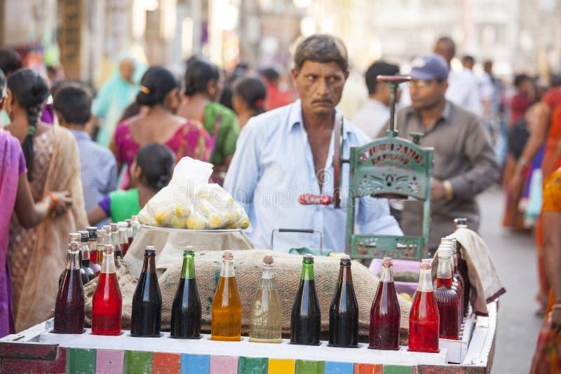 Gola (冰糖果)从贾姆讷格尔,印度 免版税库存照片