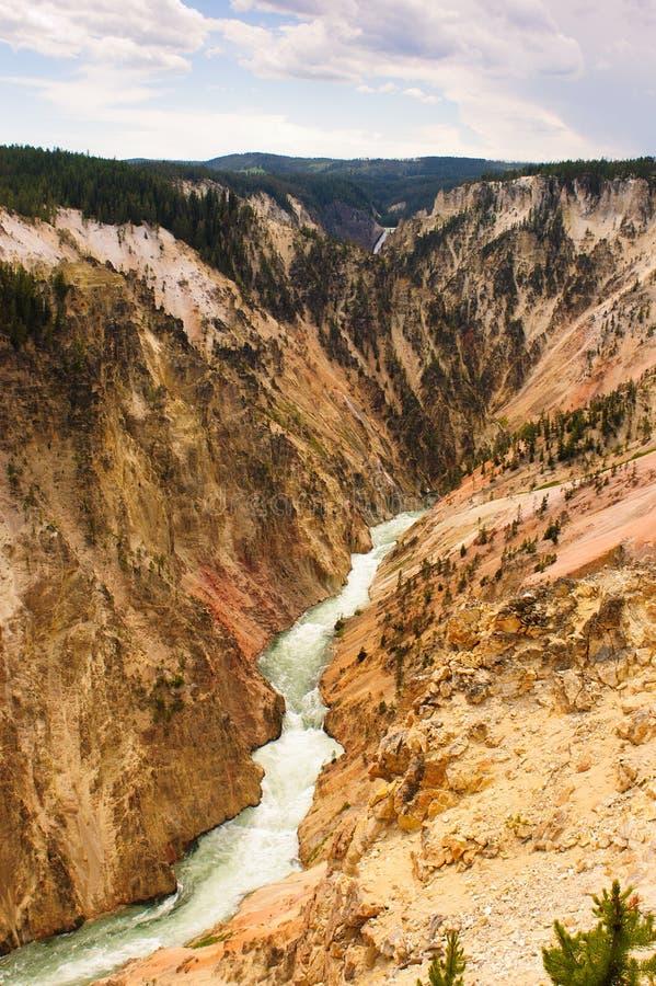 Download Gola del fiume Yellowstone fotografia stock. Immagine di erosione - 30825878