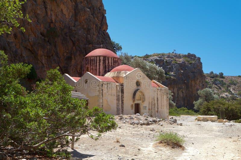 Gola di Agiofarago all'isola del Crete in Grecia immagine stock libera da diritti