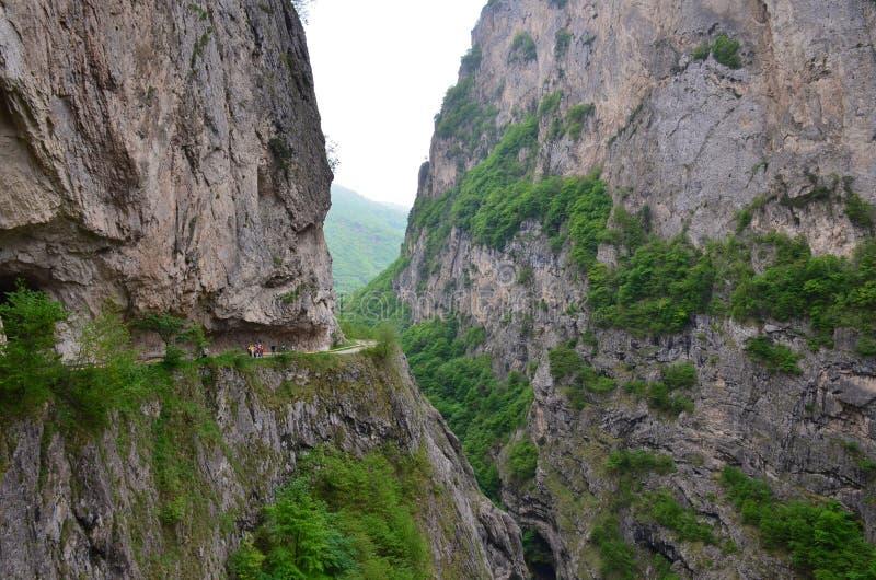 Gola di Cherek in Cabardino-Balcaria nel Caucaso del nord, Russia immagine stock libera da diritti