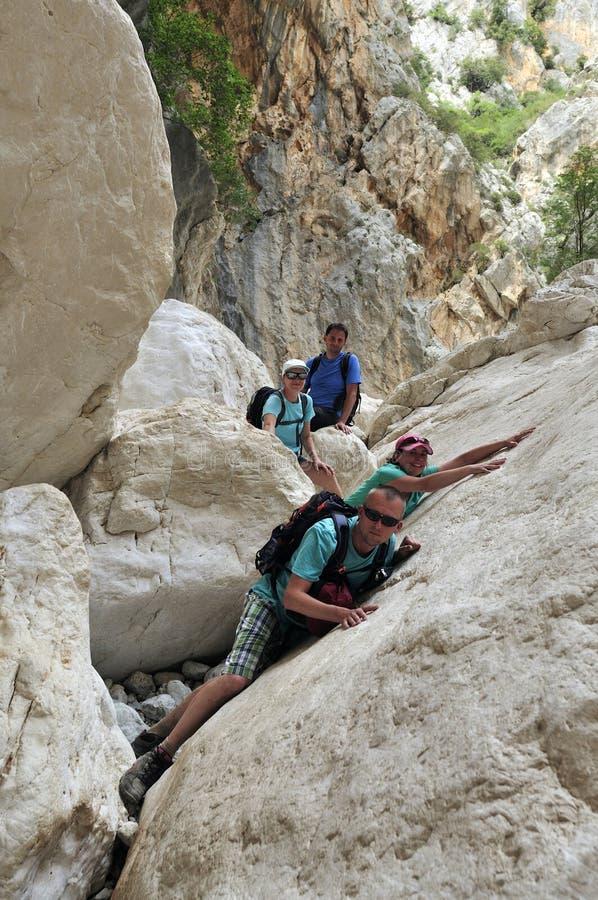 Gola di Gorropu Trekking stock photo