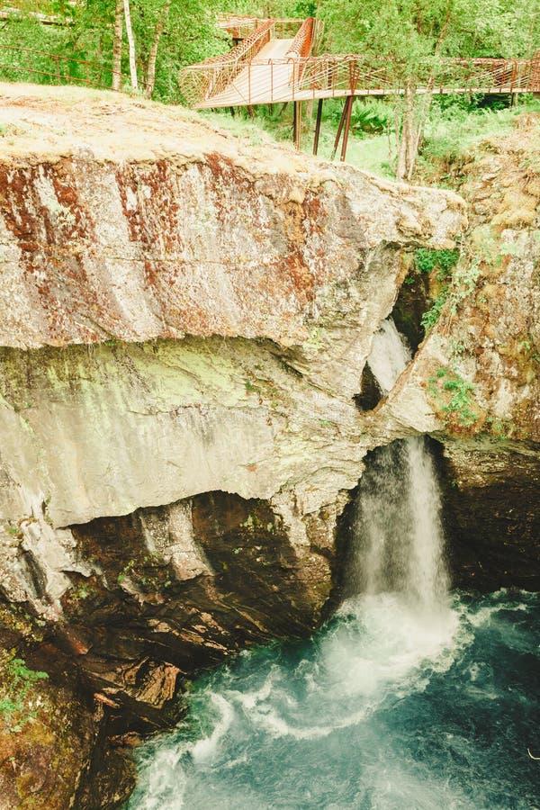 Gola di Gudbrandsjuvet in Norvegia fotografie stock libere da diritti