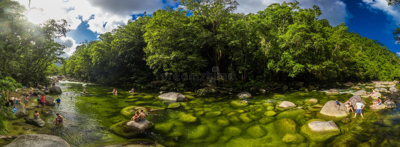 Gola di Mossman, AUSTRALIA - 15 aprile 2017: Gola di Mossman - fiume fotografie stock libere da diritti