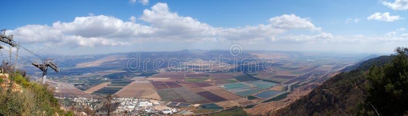 golan höjder landscape den lantliga panoramat fotografering för bildbyråer