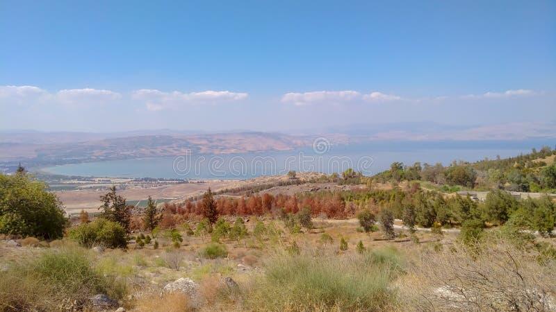 Golan Height e mare della Galilea fotografia stock