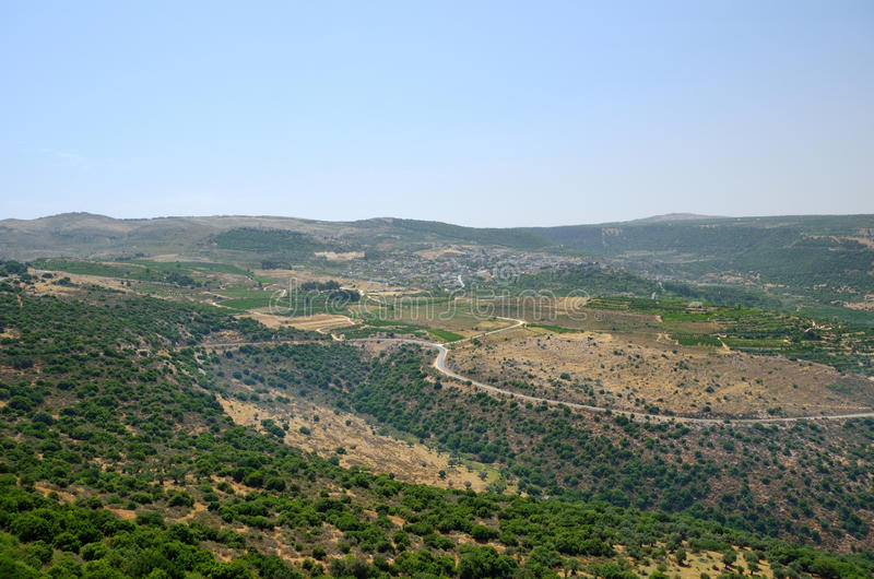 Golan Heights foto de stock royalty free