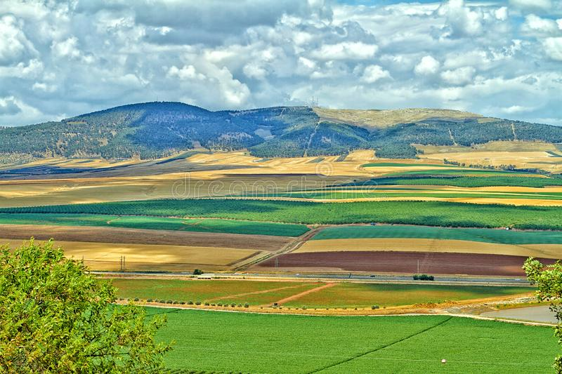Golan Heights colorido foto de stock