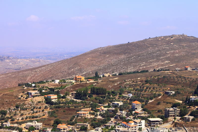 Golan Heights, Galilee, Israel - view to Lebanon royalty free stock images