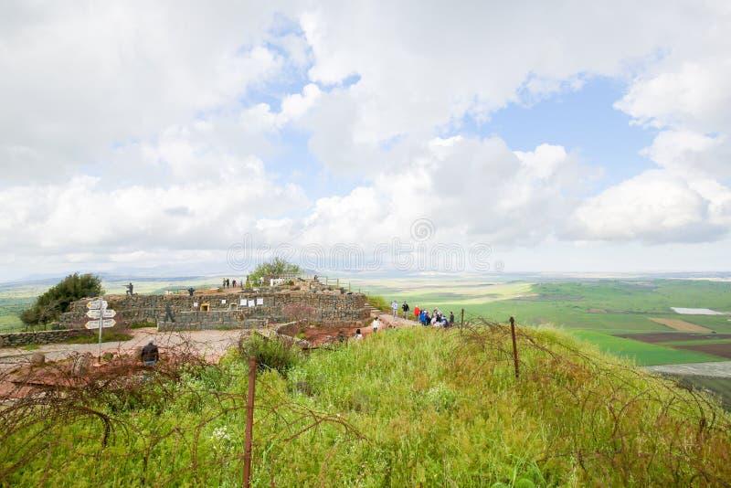Golan Heights, Isra?l stock fotografie