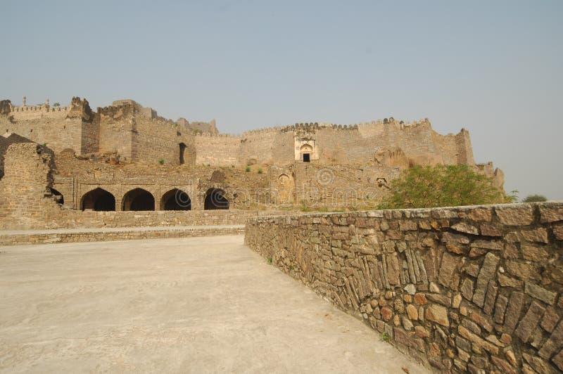 Golconda堡垒在海得拉巴印度 图库摄影