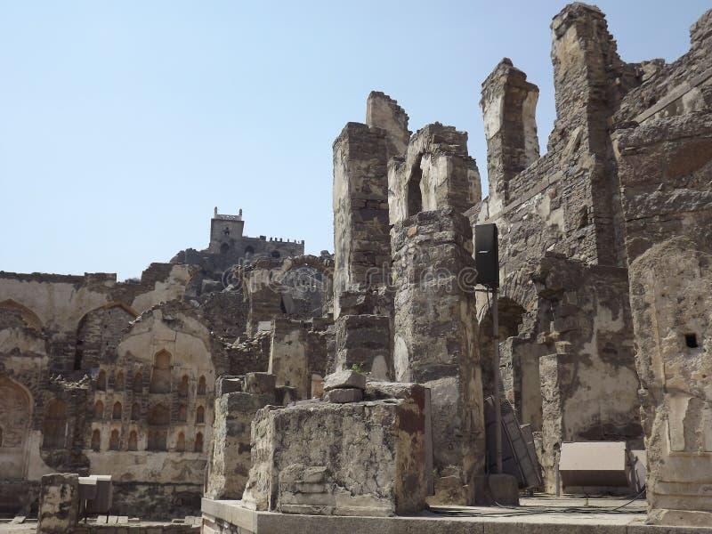 Golconda堡垒,海得拉巴,印度 免版税库存图片