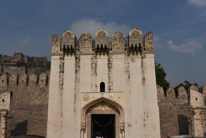 Golconda堡垒,海得拉巴,印度 免版税图库摄影