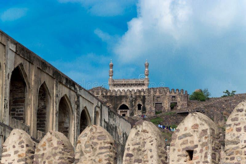 Golconda堡垒,海得拉巴-印度 免版税图库摄影