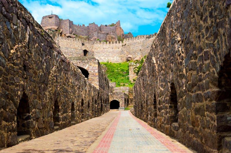 Golconda堡垒,海得拉巴-印度 图库摄影