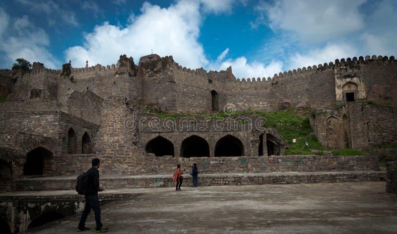Golconda堡垒,海得拉巴-印度 免版税库存图片