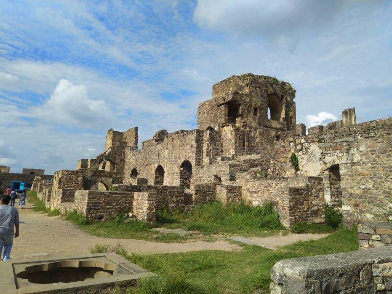 Golconda Fort arkivfoto