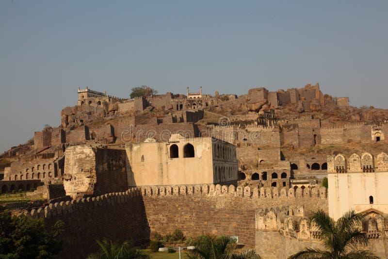 Golconda Fort, Hyderabad stockfotos