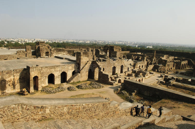 The Golconda Fort, Hyderabad Royalty Free Stock Photography