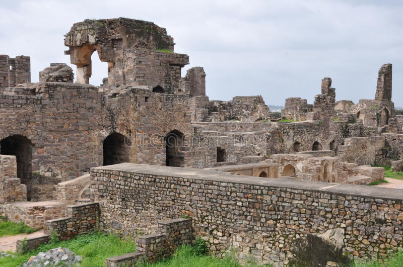 Golconda Fort in Hyderabad. India royalty free stock photography