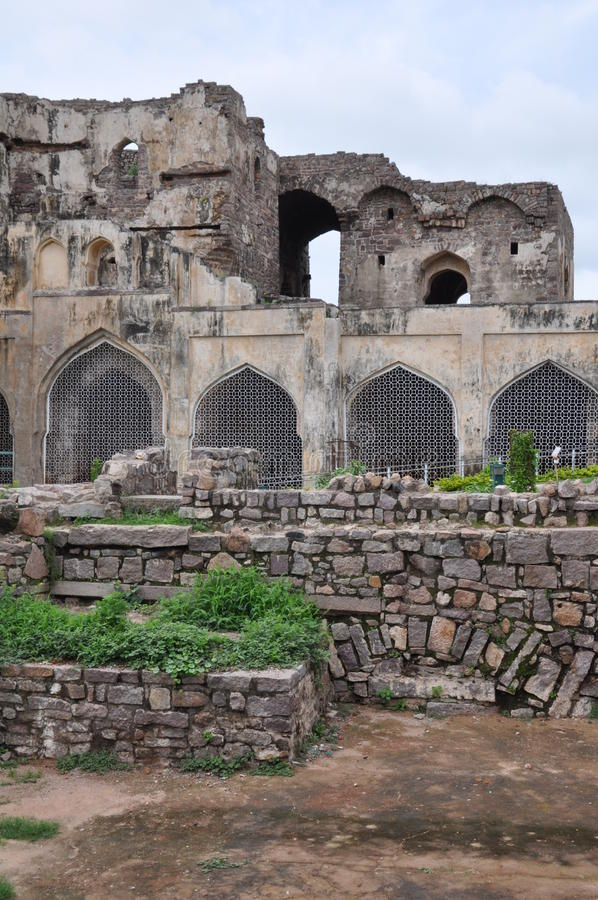 Golconda Fort in Hyderabad. India stock image