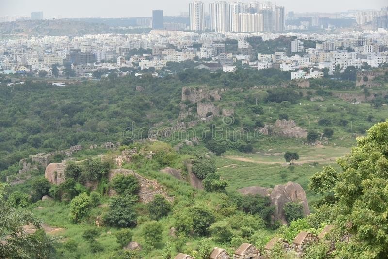 Golconda-Fort, Hyderabad, Indien stockfotografie