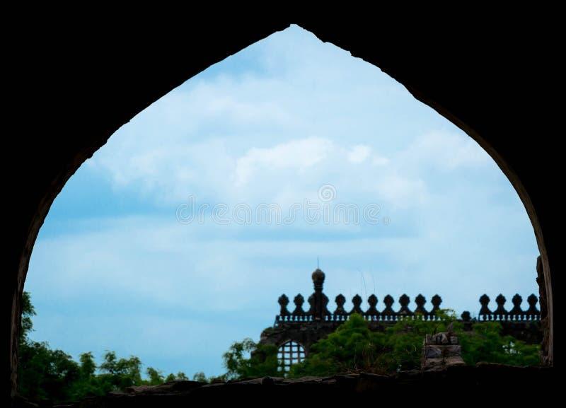 Golconda fort, Hyderabad - Indien royaltyfria bilder