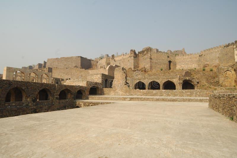 Golconda fort på Hyderabad Indien royaltyfria bilder