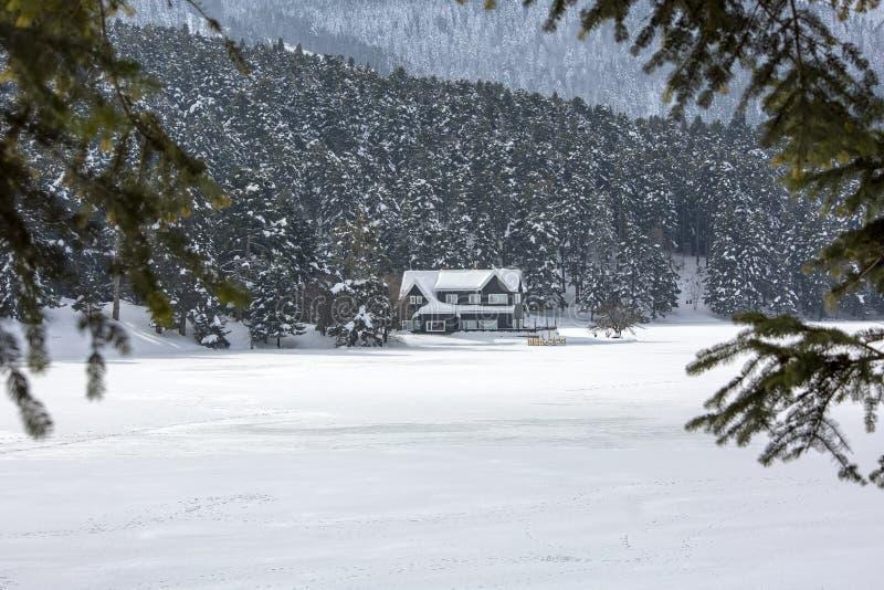 Golcuk / Bolu / Turkey, winter season snow landscape.  stock photos