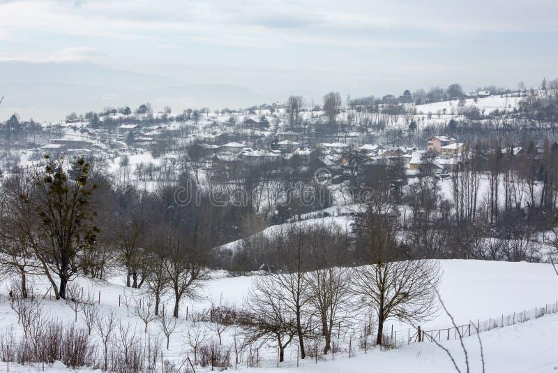Golcuk / Bolu / Turkey, winter season snow landscape.  stock photography