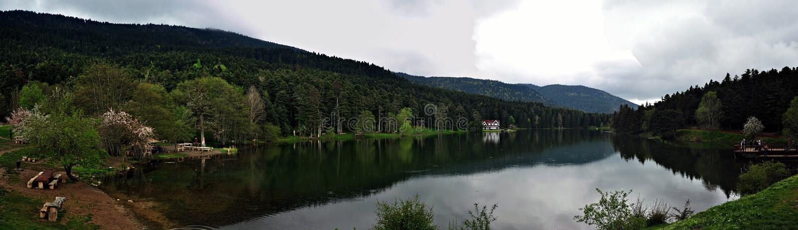 Golcuk Lake in Bolu, Turkey. royalty free stock images