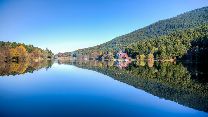 Golcuk, Turkey - October 28, 2013: National Park Golcuk. Bolu royalty free stock images