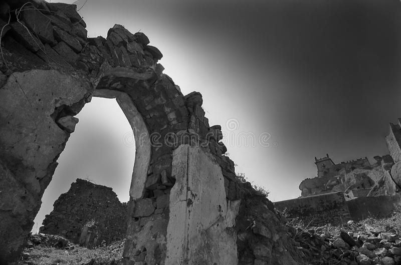 Golcunda Fort in Hyderabad-India. royalty free stock photo