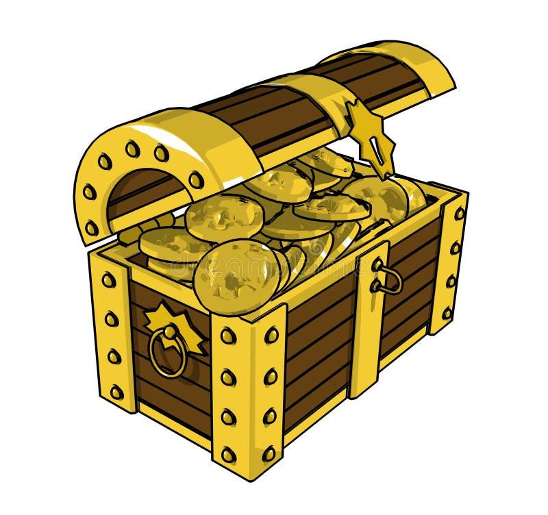 Gold сhest royalty free stock photo