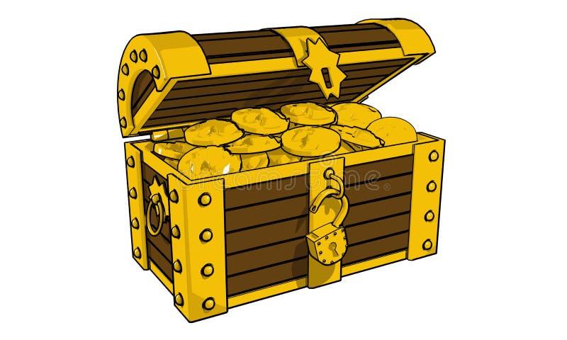 Gold сhest stock photo