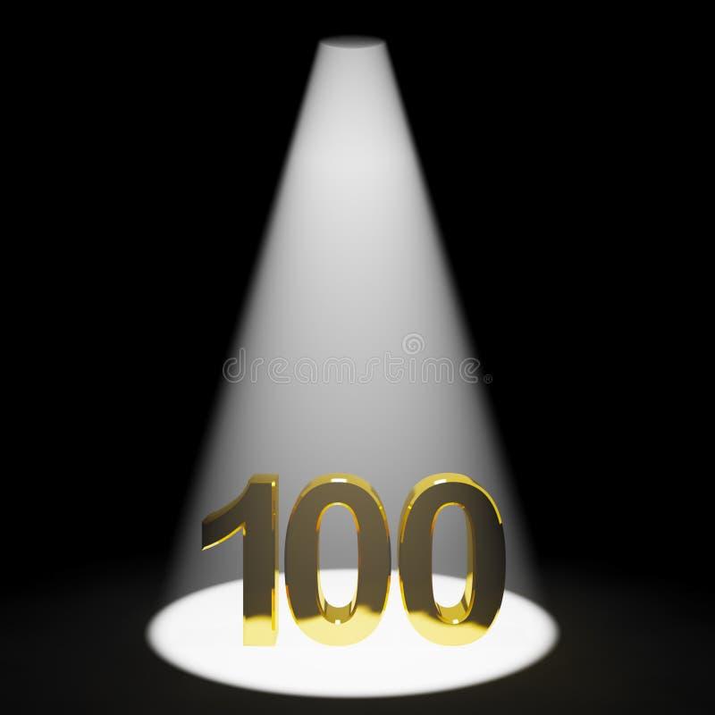 Gold 100. oder hundert vektor abbildung