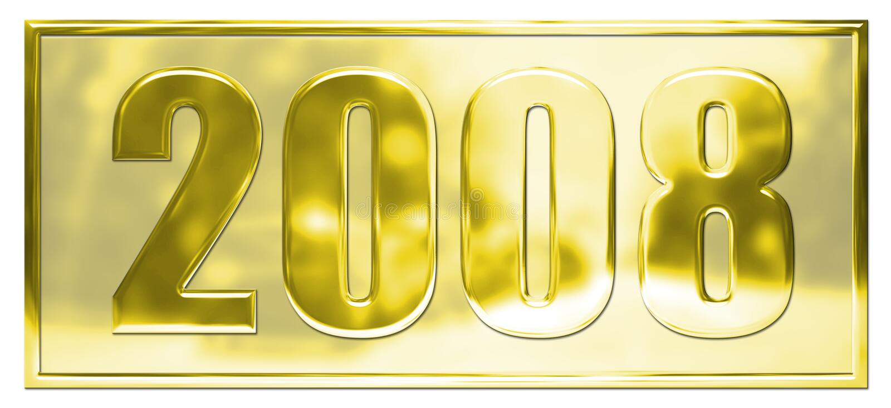Gold 2008 vector illustration