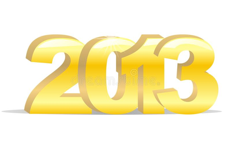 Gold 2013 Year Of Snake Stock Photos