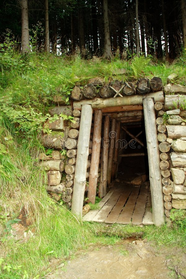 Gold. Old gold mine in mountains royalty free stock images